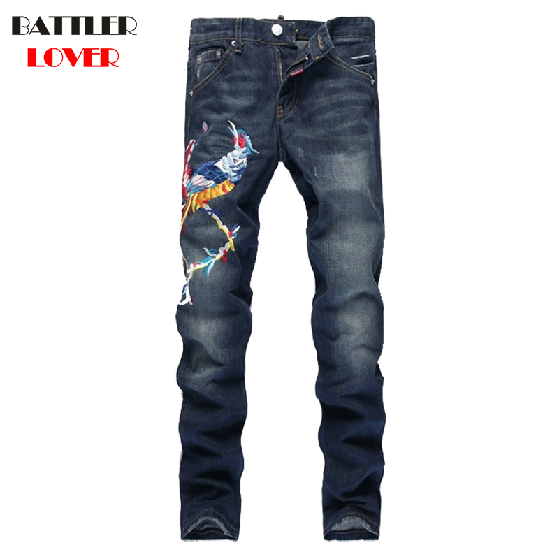Embroidery Jeans Men Pants Fear of God Trousers Denim Motorcycle Pant Boost Biker Man Masculina Slim Joggers Hip Hop Top Quality top quality off white jeans ripped denim knee hole zipper biker mens harem jeans pants destroyed torn fear of god joggers