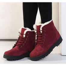Fast delivery Women boots 2018 new arrival women winter boots warm snow boots fashion heels ankle boots for women shoes