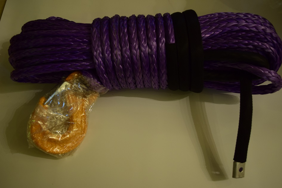 Purple 12mm*30m Synthetic Winch Rope,Off Road Rope,Winch Rope Extension,Plasma Rope,ATV Winch Cable