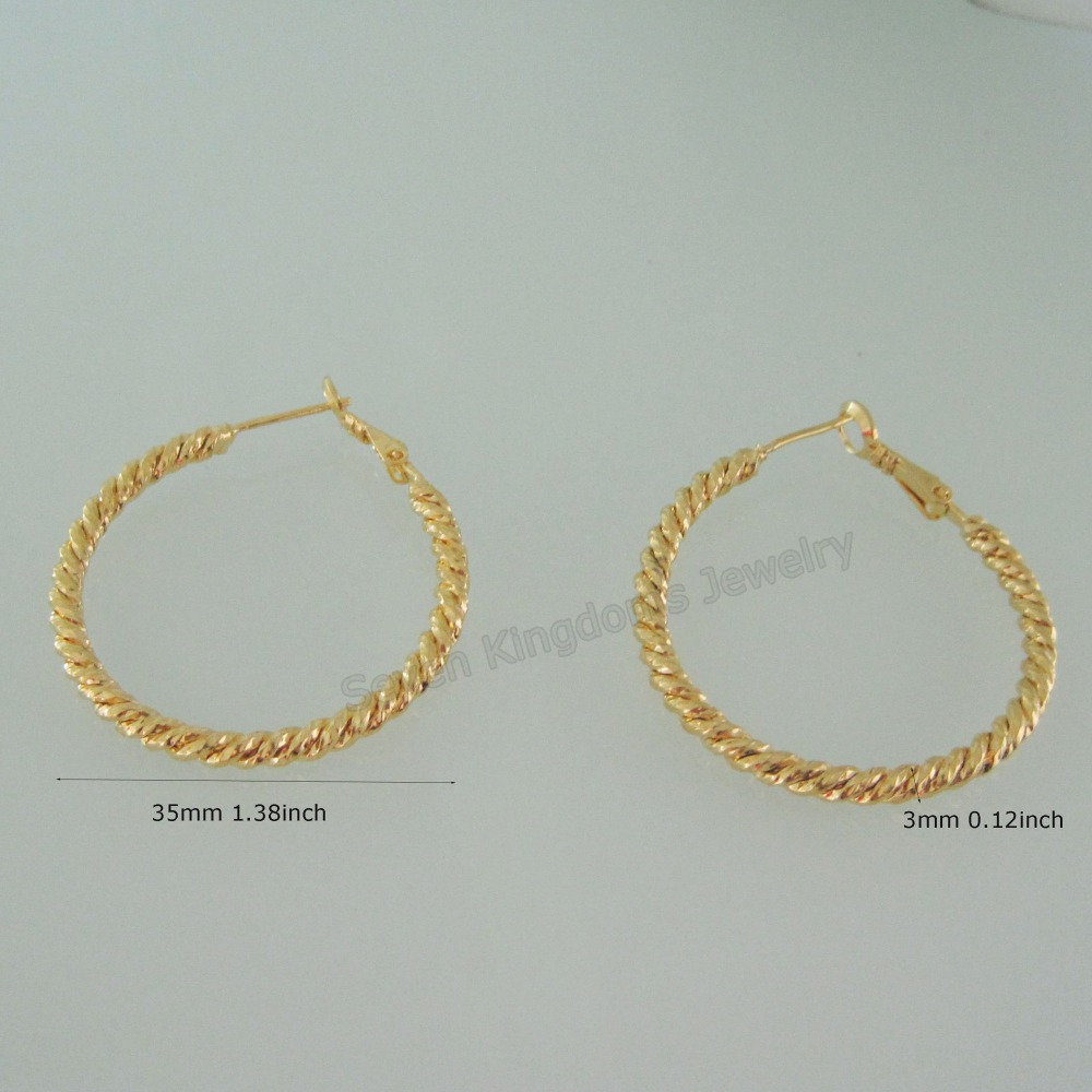 Cute Design 24k Yellow Gold Gp Solid Filled