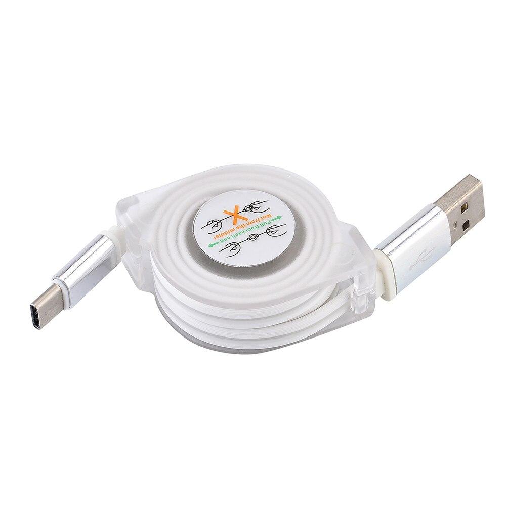 Vindingrijk Usb-c Type C Naar Usb Intrekbare Oplaadkabel Data Synchronisatie 2a Opladen Kabel Voor Zte Zmax Pro Z981 Tablet Mp3 #3 $