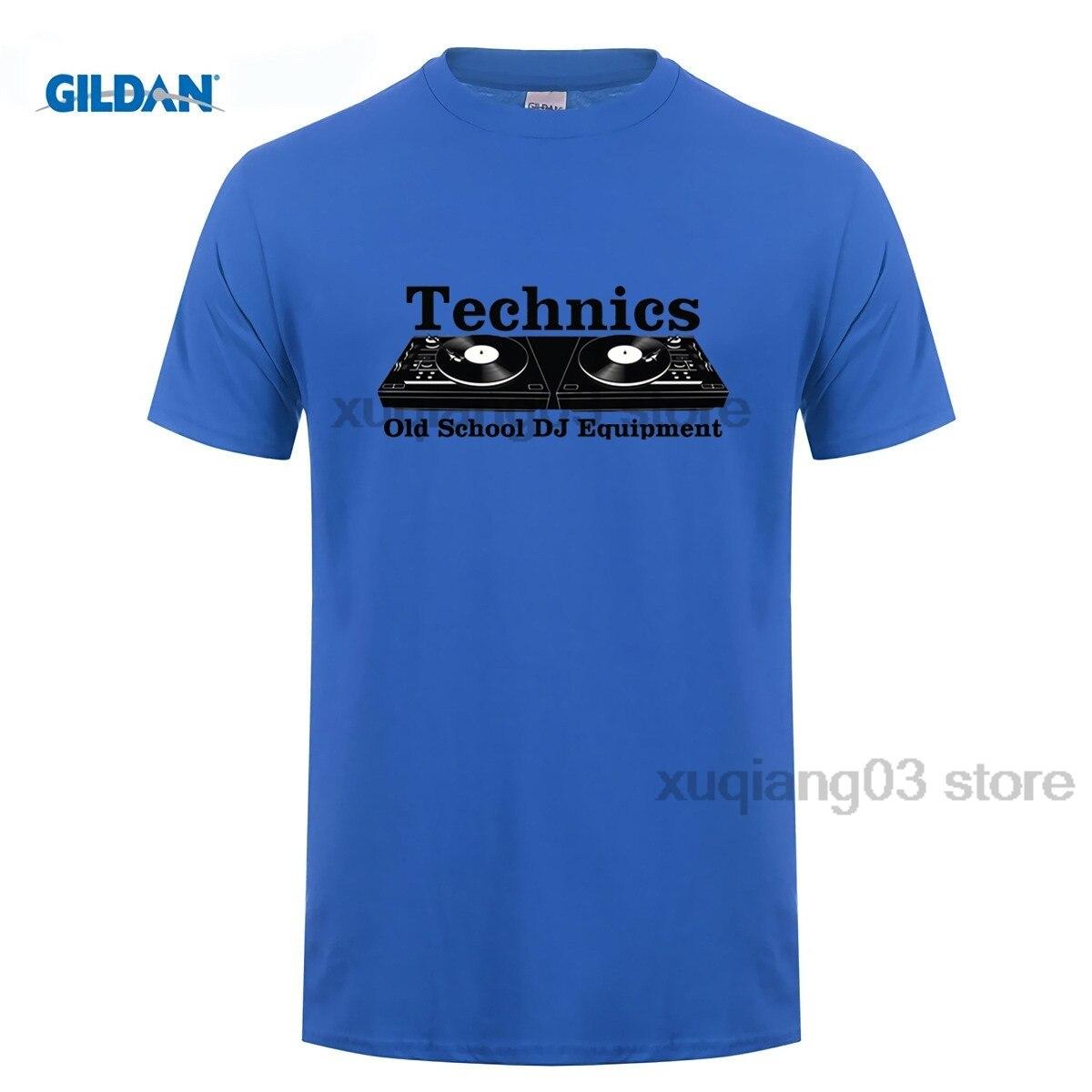 Mens T-Shirts Technics Zwart Populaire Nieuwe Stijl Oude School DJ Tee Tops Korte Mouw T-Shirts Mannen Tops
