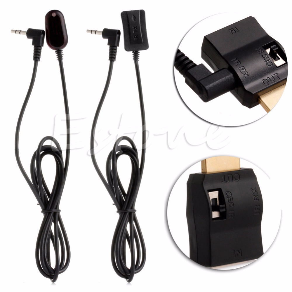 IR Extender Over HDMI Remote Control Adapters Receiver Transmitter Cable Kit NEW