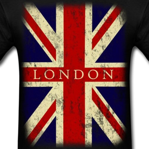 Vintage UK London Flag Mens T Shirt Cotton Low Price Top Tee For Teen Boys Cheap 100 Shirts Basic Models In From Clothing