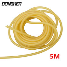 2mm x 5mm Natural Latex Slingshots Rubber Tube 5m Tubing Band for Catapult Hunting Shooting Elastic Rubber Band Bungee Equipment