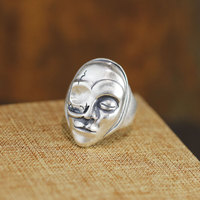 New character silver product personality unique domineering one eyed man inferior smooth opening fine silver ring