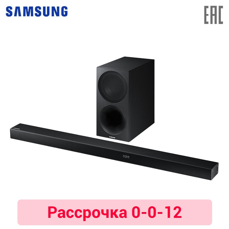 Soundbar with subwoofer Samsung HW-M550/RU 0-0-12 new for samsung np300e5a np305e5c np300e5x np305e5a 300e5a 300e5c 300e5z russian ru laptop keyboard with case palmrest touchpad