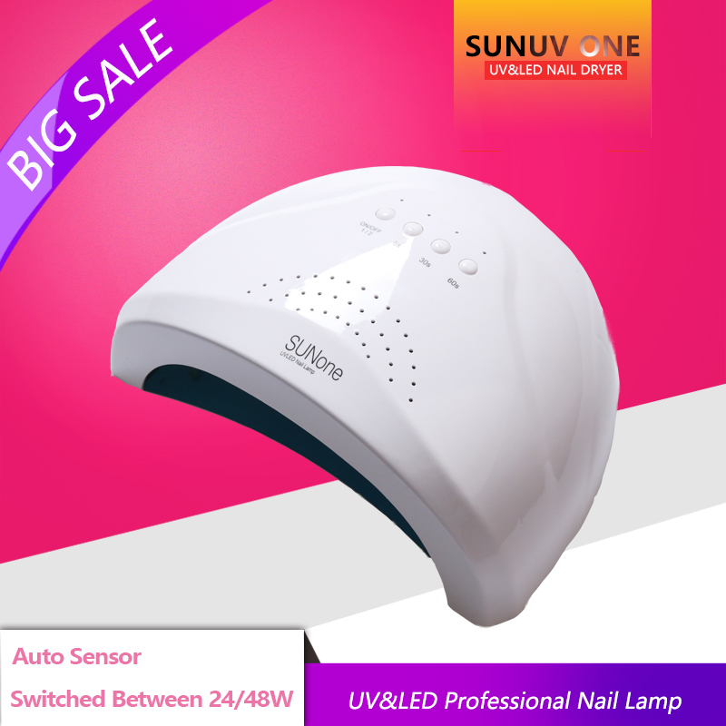 UVLED Profession SUN 48W/24W Sensor Double White UV Light LED Lamp Nail Dryer Fast Drying For Curing Nail Gel Polish shanghai kuaiqin kq 5 multifunctional shoes dryer w deodorization sterilization drying warmth