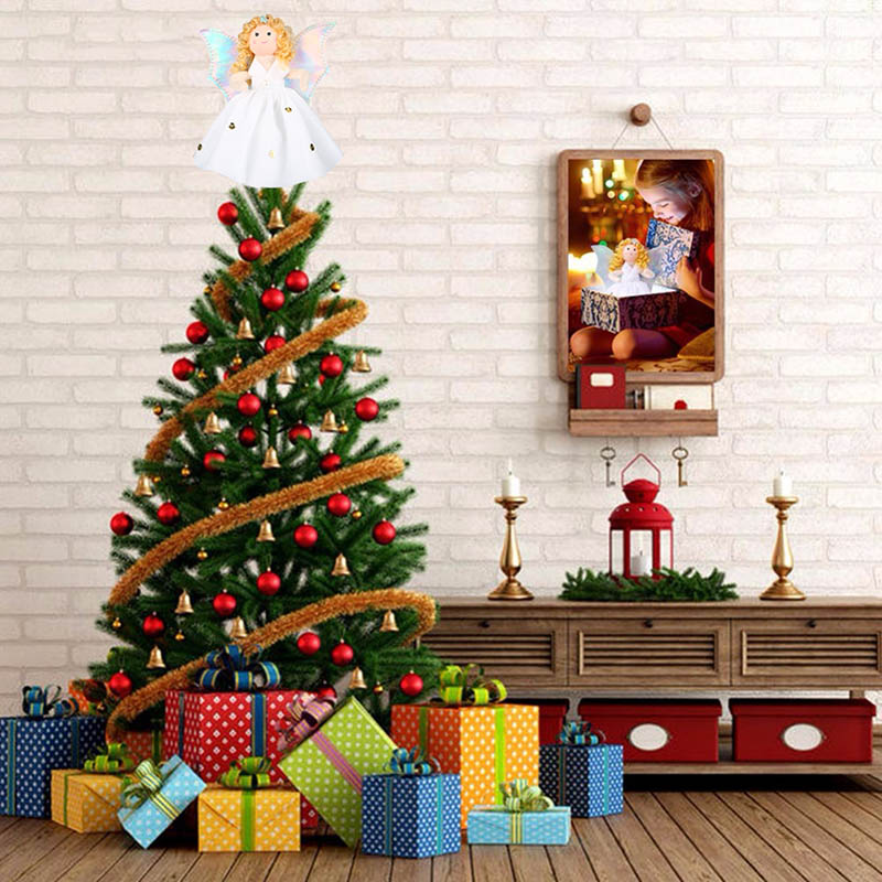4b83443f4511 aliexpresscom buy christmas angel with wings decorations christmas tree  toppers xmas angel figure for mini christmas