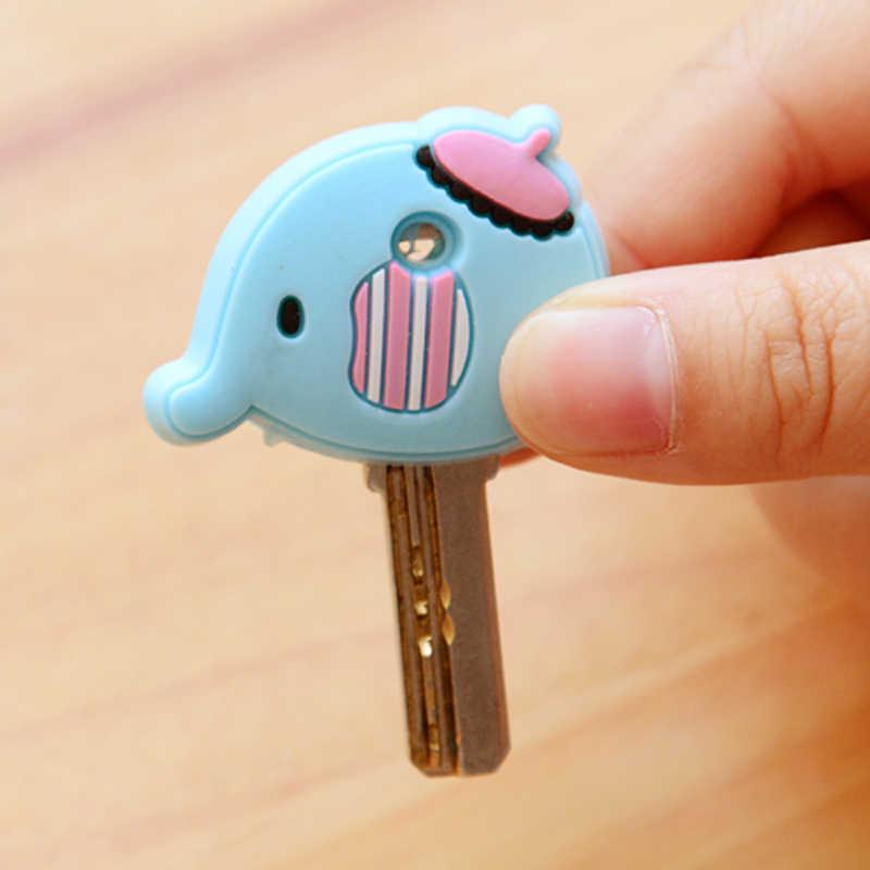 קריקטורה אנימה חמוד מפתח כיסוי כובע סיליקון מיקי תפר דוב Keychain נשים מתנה ינשוף Porte מפתח Minne מפתח שרשרת