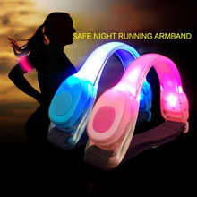 Fluorescent Night Running LED Lamp Running Signal Light Luminous Bracelet Foot Ring Reflective Arm Belt Safety Warning Lights(China)