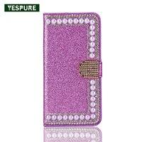 YESPURE Handy Bling Zubehör Leder Anti Schwerkraft Fall für Samsung Galaxy S6 Rand Handphone Zubehör mit Kartentasche