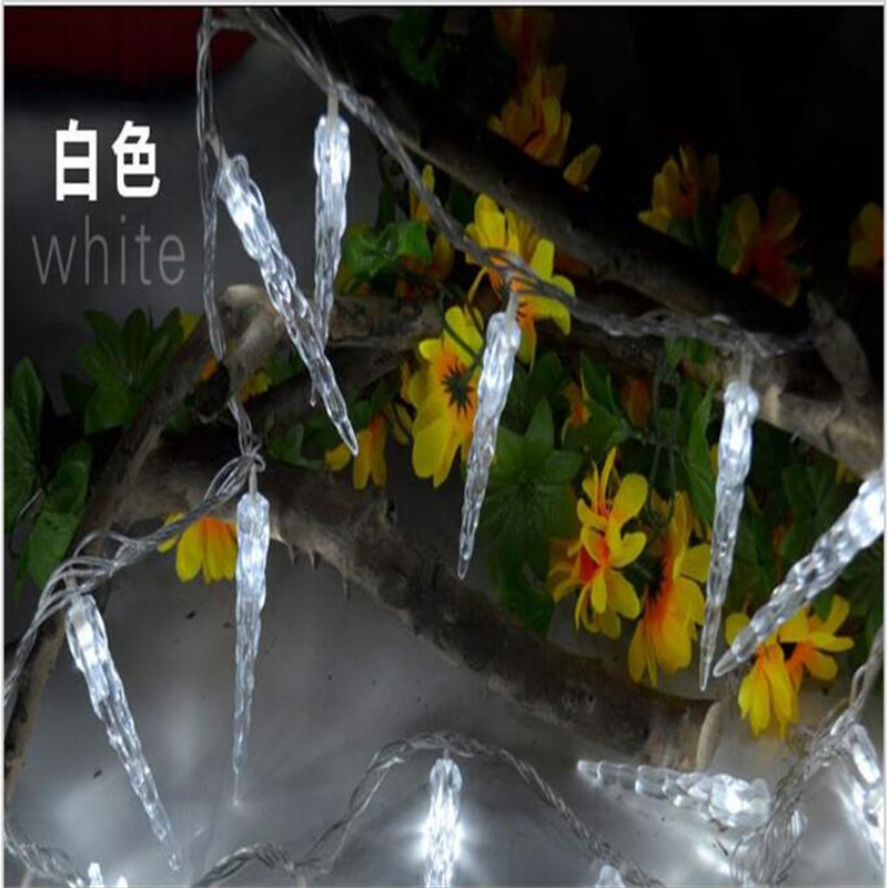 Holiday Lighting 3M 20 LED Icicle Home Xmas Decoration Christmas Lights Outdoor Waterproof Fairy  String Lights