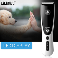 LILI Rechargeable Professional Dog Hair Trimmer Electric Pet Hair Clipper Cat Grooming Animals Clipper Pets Haircut Shaver