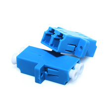 цена на 100pcs Fiber Optic Adapter LC UPC Singlemode Duplex SM Adaptor Coupler LC/UPC