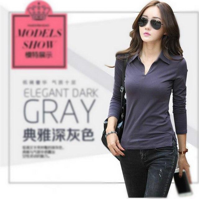 long sleeve Shirt Female plain black top white women manga larga chemise  shirts femme mache longue marque ca15b8a803f