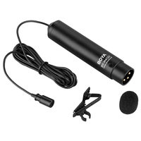 BOYA Omnidirectional Lavalier Clip Condenser Microphone Mic with XLR Cable