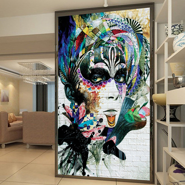 3d wall painting art easy custom 3d wall murals wallpaper abstract hand painted color beauty graffiti entrance corridor art painting