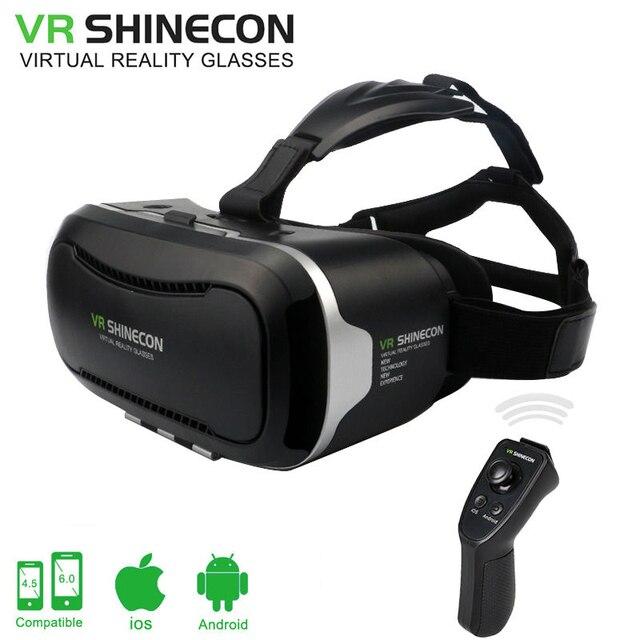 VR Shinecon ii Google Cardboard VR BOX 2.0 Virtual Reality goggles VR 3D Glasses Immersive for 4.5-6.0 inch smartphones