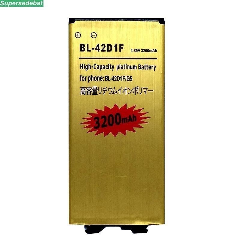 supersedebat 10pcs New li ion Battery BL 42D1F for LG G5 Mobile Phone Rechargeable Phone Batteries Accumulator wholesale bateria