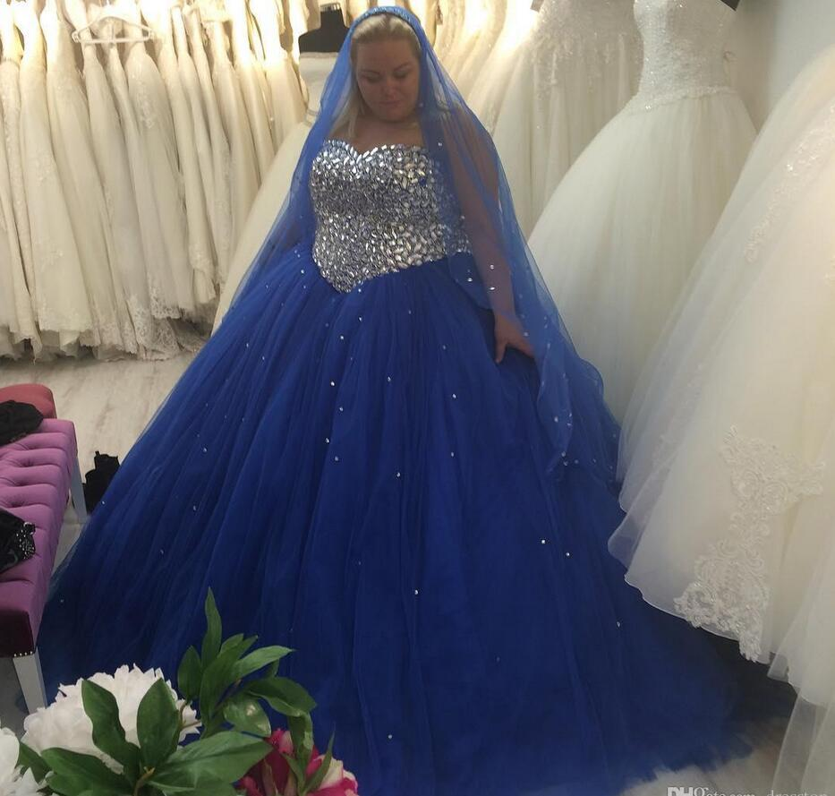 Wedding Ball Gowns Sweetheart Neckline: Blue Plus Size Wedding Dresses Sweetheart Neckline