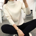 DisappeaRanceLove Brand 2017 new winter casual Lantern sleeve loose thick pullover female turtleneck  ladies' sweater women