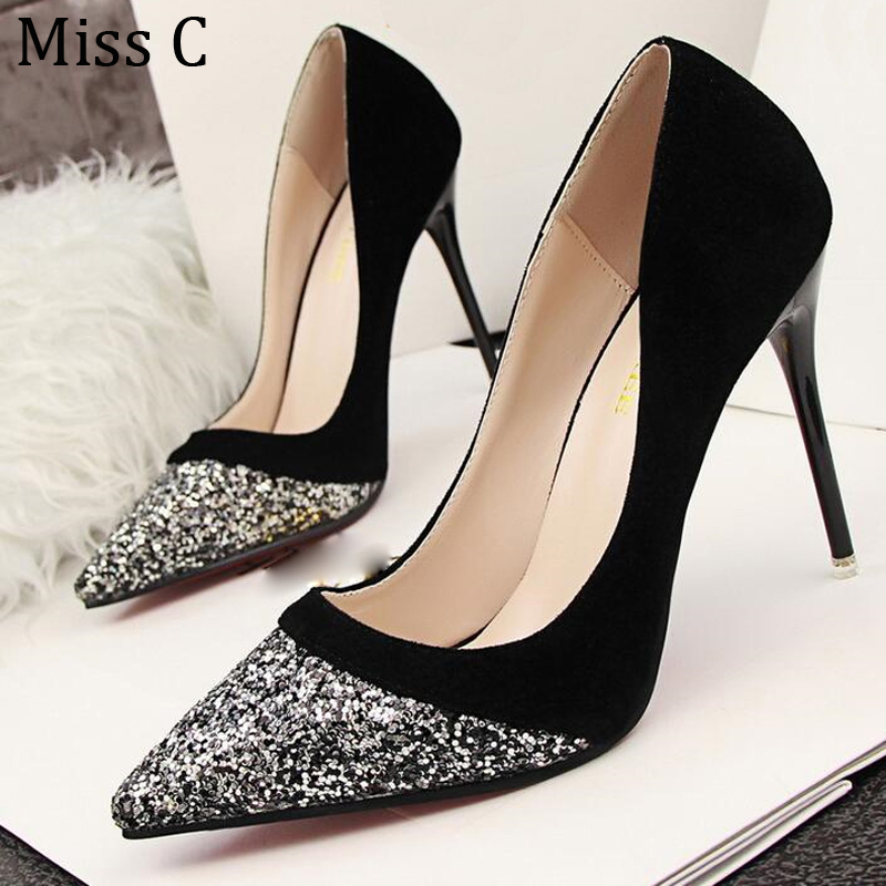 Compare Prices on Silver Black Heels- Online Shopping/Buy Low ...