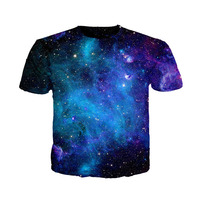 Cloudstyle Summer T Shirt Man Latest Design Top Tees Casual Style Galaxy Printing Fashion Tshirt Short