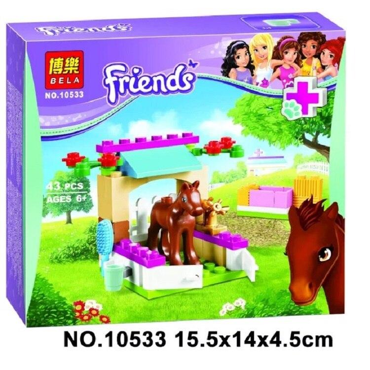 Toys & Hobbies Model Building Bela 10533 Little Foal Horse Stable Building Blocks Sets Toys Compatible Legoingly Friends 41089 Best Gift For Girls