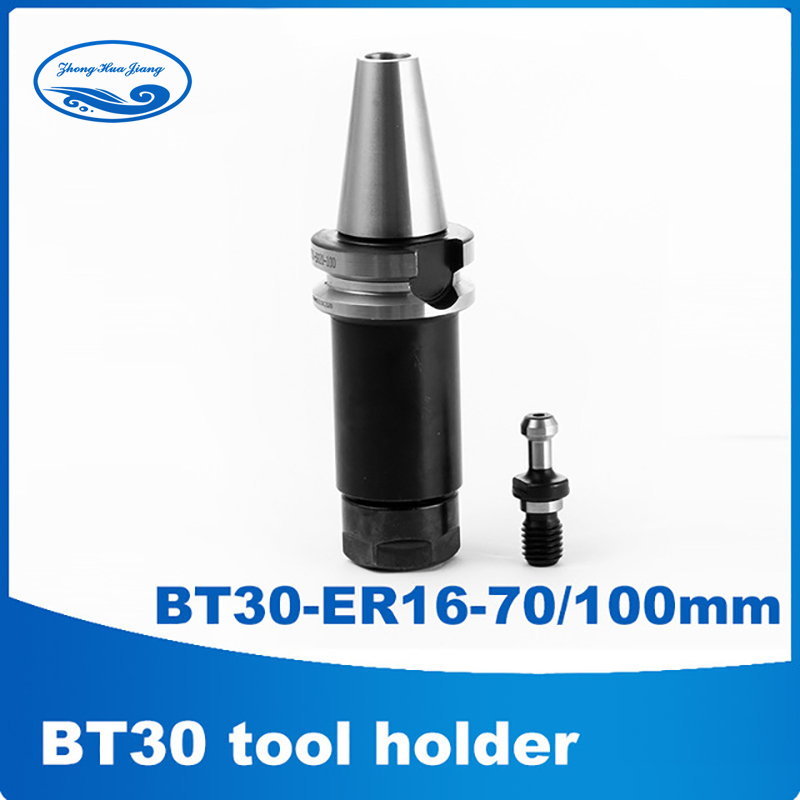 BT30-ER16 -70/100mm bt30 tool holder tool post ER16 toolholder bt30 tool holder + Pull nails A111 bt30 tool holder clamp for auto tool changer cnc machine bt30 tool holder claw