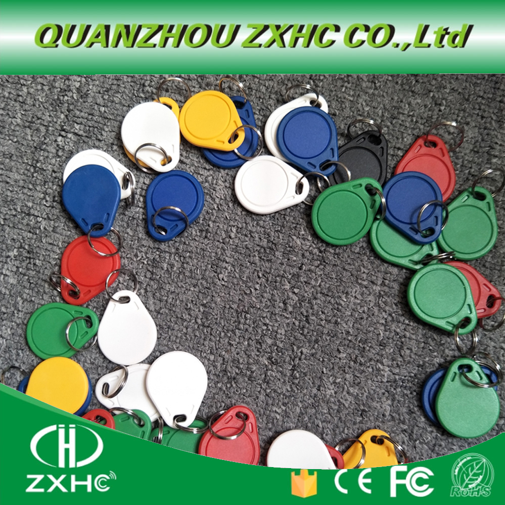 (10PCS) 13.56 Mhz RFID M1 S50 UID Changeable Card Tag Keychain Key Keyfob ISO14443A Block 0 Sector Writable