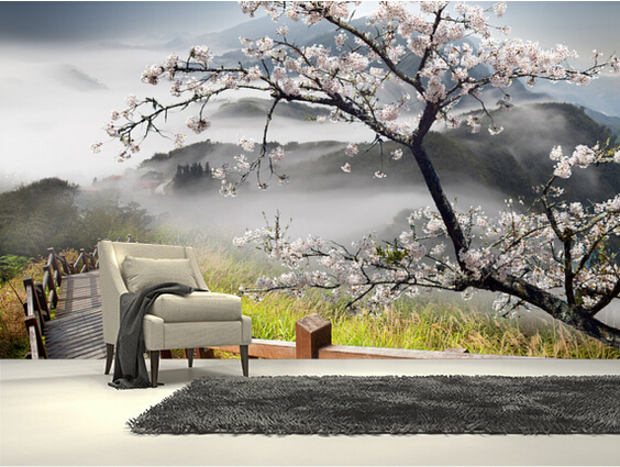 Custom photo wallpaper japanese walkway 3d wallpaper for Asian wallpaper mural