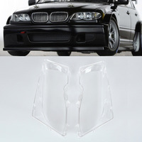 1 Pair Left Right Front Headlight Lens Cover For BMW E46 320i 325i 325xi 330i 330xi