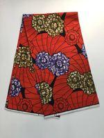 באופן פרטי עיצוב אפריקאי דפוס גיאומטריה אדום כתום סגול פרח עבודת יד שעוות סופר שעווה אמיתית בד לתפירת משלוח חינם