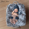 Fotografia bebes newborn photography accessories newborn photo props handmade Crochet king Costume Infant Beanies+Pants