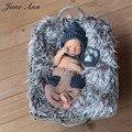 Fotografia bebes recién nacidos accesorios de fotografía recién nacido foto atrezzo Ganchillo hecho a mano rey de Vestuario Infantil Gorros + Pantalones