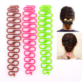 By DHL or EMS 200pcs  Free Shipping Braid Tool Quality Magic Hair Roller With Hook Twist Styling Bun Maker random  3 Colors