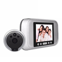 720P intelligent electronic cat eye HD video doorbell with human induction automatic camera video silver