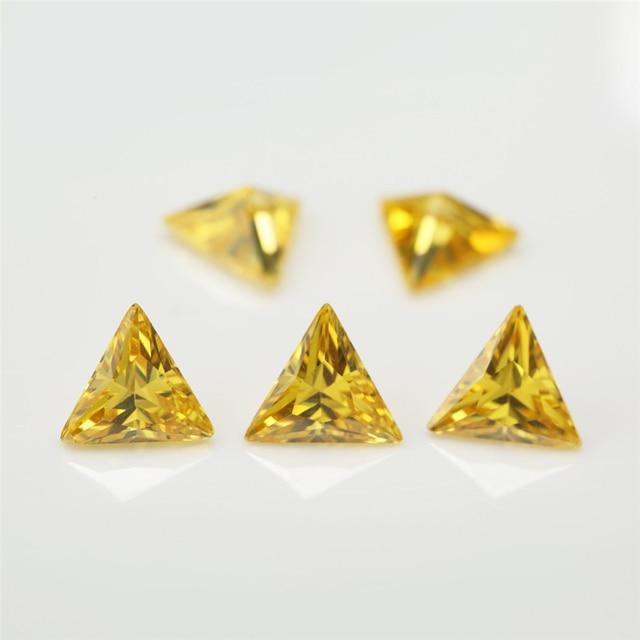 Размер 3x3 ~ 10x10 мм треугольная форма 5А кубический цирконий