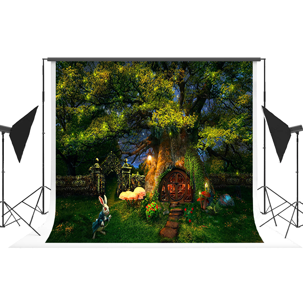 Fairy Tale Backdrop Cartoon Magic Forest Photo Background Tree House Props Foto Camera for Kids Fotostudio Photography Kate mary pope osborne magic tree house 20th anniversary edition dinosaurs before dark