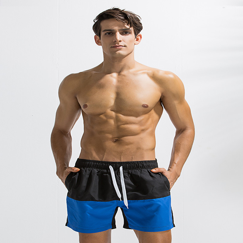 ZOGGA 2019 Spliced Spring Casual Fitness Male Bodybuilding Trunks 100 High quality Polyester Breathable Soft Men Board Shorts in Board Shorts from Men 39 s Clothing