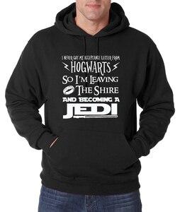 Adult Hogwarts Hot Sale I Become A Jedi men hoodies 2016 autumn winter new sweatshirt men casual fleece hooded men for fans