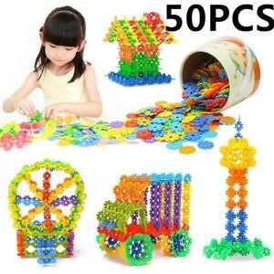 50Pcs 3D Jigsaw Plastic Snowfl
