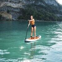 9ft 274 см Дамская надувные AQUA путешествие серфинга SUP гидро сила стоячего Панели Ева палубе Для женщин летние Водные виды спорта