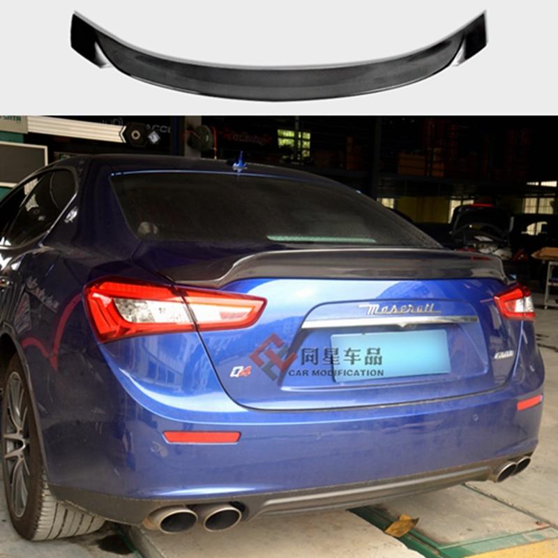 Ghibli Spoiler Wing Car Rear Tuning Racing Bootlid For Maserati Ghibli 3.0T S Q4 2014 2015 2016 maserati granturismo carbon spoiler