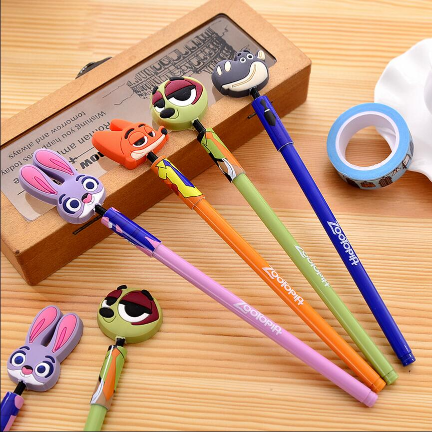 crazy office supplies. aliexpresscom buy 8 pcslot crazy animals fox gel pen cute rabbit black ink pens stationery office accessories school supplies papelaria 1679 from