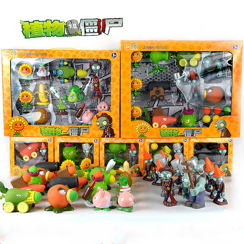 Game PVZ Plants Vs Zombies Peashooter PVC Action Figure Model Toy Gifts Toys For Children High Quality In OPP Bag