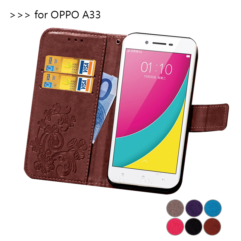 save off adf8b ecb05 US $4.86 |Lucky Clover 3D embossed leather Case For Oppo A33 flip phone bag  Cover For OPPO Neo 7 5.0 Case with stand card holder-in Flip Cases from ...