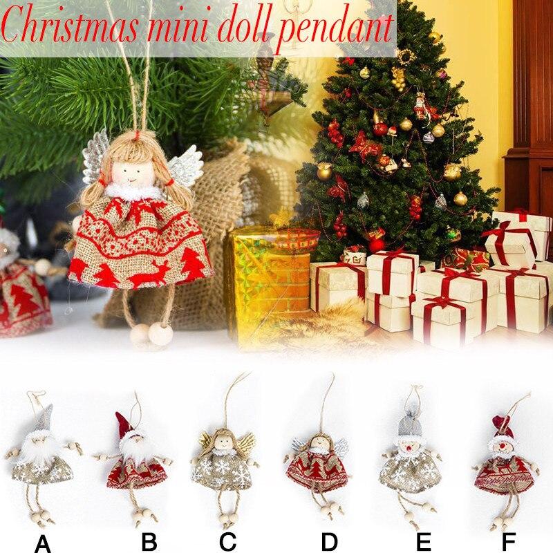 Christmas Tree Hanging Pendants Decor Santa Dolls Xmas Party Ornament D