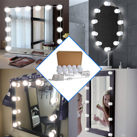 flexible light up mirror lighting for dressing table bathroom led light fixtures touch switch bedroom wall lamp vanity lights